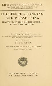 Cover of: ... Successful canning and preserving | Ola Powell