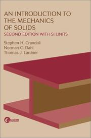 Cover of: An Introduction to the Mechanics of Solids | Stephen H. Crandall