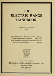 The electric range handbook by Society for Electrical Development.