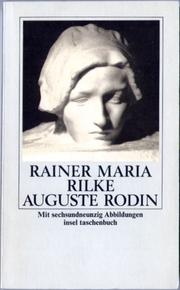 Cover of: Auguste Rodin by Rainer Maria Rilke