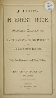 Cover of: Julian's interest book by Eran Julian