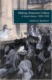 Cover of: Making American culture: a social history, 1900-1920