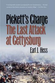 Cover of: Pickett's Charge--The Last Attack at Gettysburg (Civil War America)
