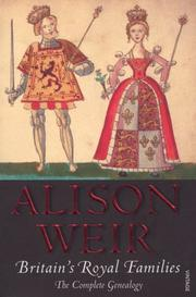 Cover of: Britain's Royal Families | Alison Weir
