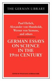 Cover of: German Essays on Science in the Nineteenth Century: