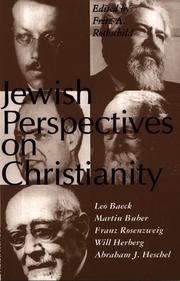 Cover of: Jewish Perspectives on Christianity