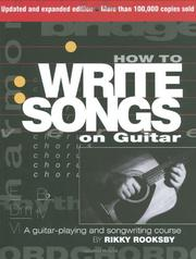 Cover of: How To Write Songs On Guitar - Revised (Book)