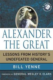 Cover of: Alexander the Great: Lessons from History's Undefeated General (World Generals)