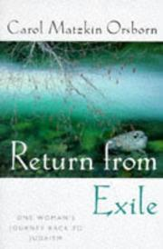 Return from exile by Carol Orsborn