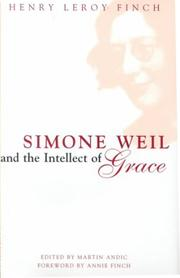 Cover of: Simone Weil and the intellect of grace
