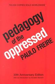Cover of: Pedagogy of the oppressed | Paulo Freire