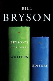Cover of: Bryson's Dictionary for Writers and Editors