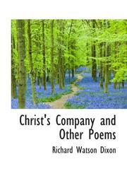 Cover of: Christ's Company and Other Poems
