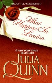 Cover of: What Happens in London
