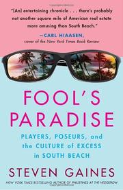 Cover of: Fool's Paradise: Players, Poseurs, and the Culture of Excess in South Beach