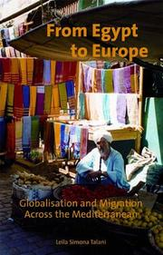 Cover of: From Egypt to Europe: Globalisation and Migration Across the Mediterranean (International Library of Migration Studies)