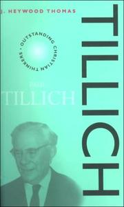 Cover of: Tillich (Outstanding Christian Thinkers)