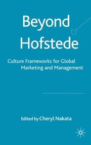 Cover of: Beyond Hofstede |