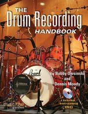 Cover of: The drum recording handbook