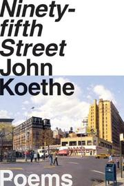 Cover of: Ninety-fifth Street: poems