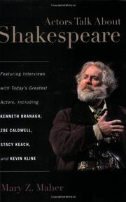 Cover of: Actors talk about Shakespeare | Mary Z. Maher