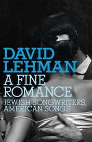 Cover of: A fine romance: Jewish songwriters, American songs