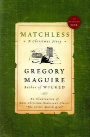 Cover of: Matchless