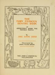 Cover of: The Mary Frances sewing book by Jane Eayre Fryer
