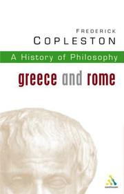 Cover of: History of Philosophy Volume 1