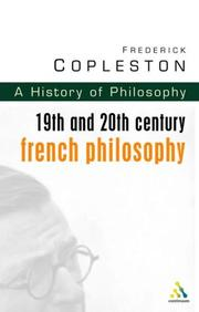 Cover of: History of Philosophy Volume 9