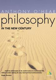 Cover of: Philosophy in the new century