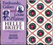 Cover of: Helle Briefe | Wilhelm Weigand