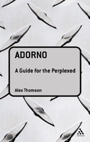 Cover of: Adorno: A Guide for the Perplexed (Guides for the Perplexed)