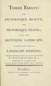 Gilpin three essays on the picturesque