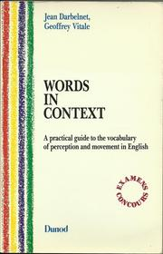 Words in context by Jean Darbelnet