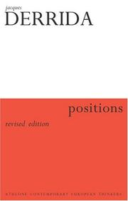 Cover of: Positions (Question What You Thought Before)