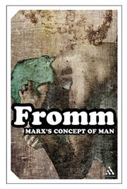 Cover of: Marx's concept of man
