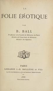 Cover of: La folie érotique
