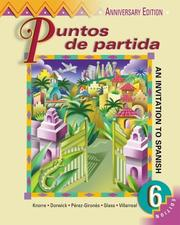 Cover of: Puntos de partida (Student Edition + Listening Comprehension Audio CD) | Marty Knorre