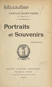 Cover of: Portraits et souvenirs