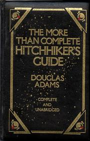 Cover of: more than complete hitchhiker