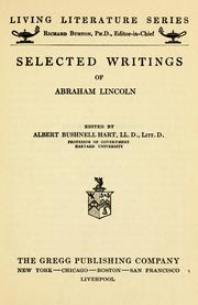 Cover of: ...Selected writings of Abraham Lincoln