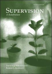 Supervision by Thomas J. Sergiovanni, Robert J. Starratt, Thomas Sergiovanni, Robert Starratt