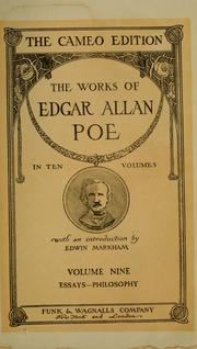 Cover of: The  Works of Edgar Allan Poe in Ten Volumes | Edgar Allan Poe