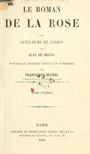 Cover of: Le roman de la rose