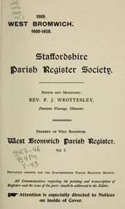 Cover of: West  Bromwich parish register. by West Bromwich (England)