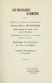 Cover of: Les massacres d'Arménie | Mayewski.