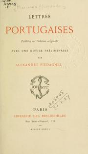 Cover of: Lettres portugaises
