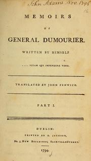 Cover of: Memoirs of General Dumourier