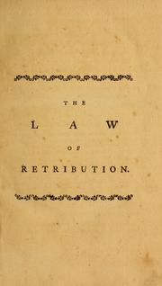 Cover of: The law of retribution | Granville Sharp